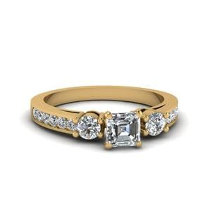 1 Ct. Diamond Channel 3 Stone Ring