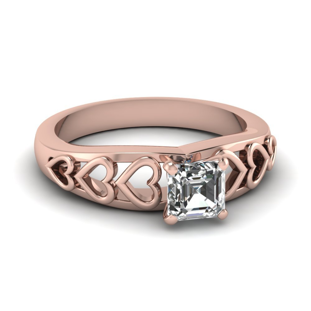 Single Asscher Cut Diamond Ring