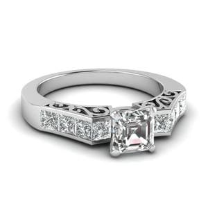 Channel Diamond Vintage Ring