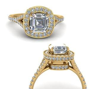 Hidden Halo Pave Diamond Ring