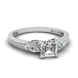 3 Stone Diamond Petite Ring