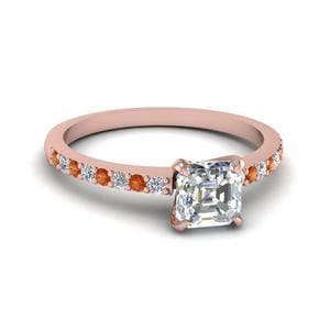 Small Orange Sapphire Ring