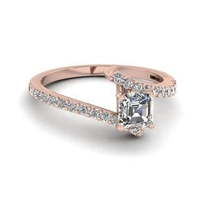 Asscher Cut Diamond Petite Ring