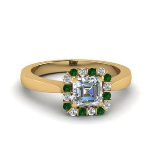 Emerald Halo Diamond Ring