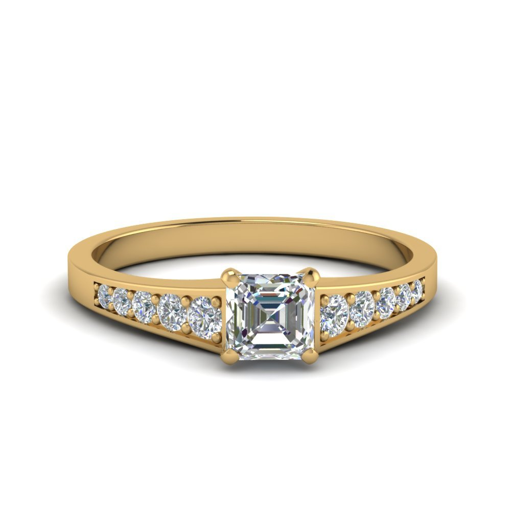 Graduated Timeless Asscher Cut Ring