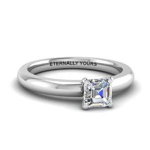 Classic asscher diamond Solitaire Ring