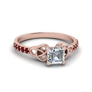 Celtic Asscher Cut Diamond Ring