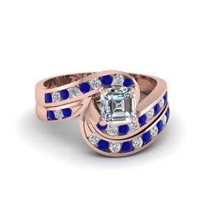 Sapphire Channel Wedding Set