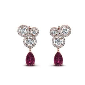 Halo Drop Diamond Earring