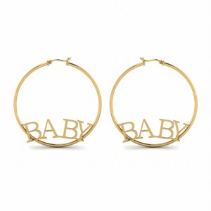 Baby Engraved Hoop Earring