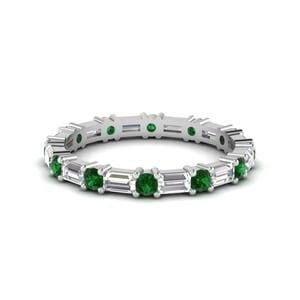 Emerald Women Eternity Band