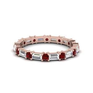 1.25 Ct. Baguette Ruby Band