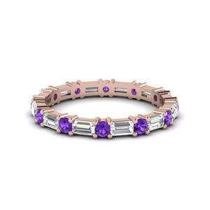 Violet Topaz Eternity Band