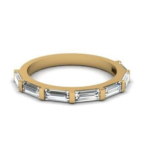 Gold Baguette Womens Band