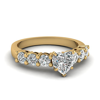 1 Carat Heart Shaped Diamond Ring