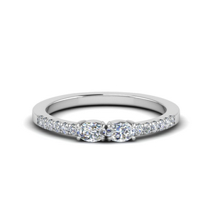 Oval Shaped 2 Stone diamond Ring