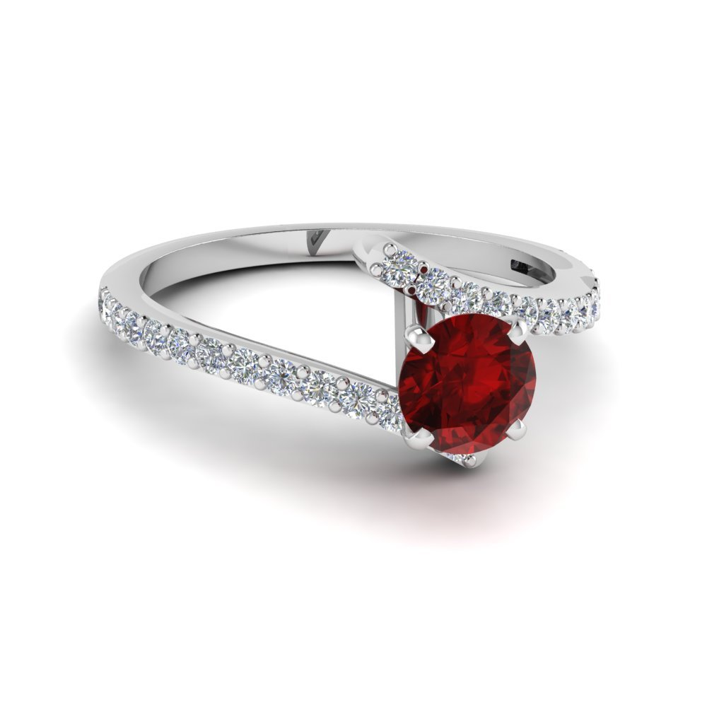 Beautiful Crossover Birthstone Ring