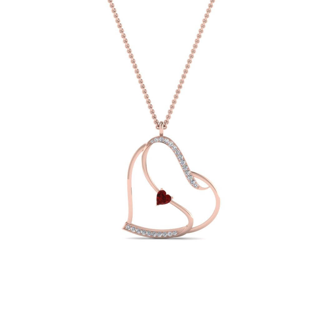 Beautiful Heart Design Diamond Pendant