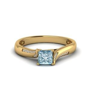 Cathedral Aquamarine Ring