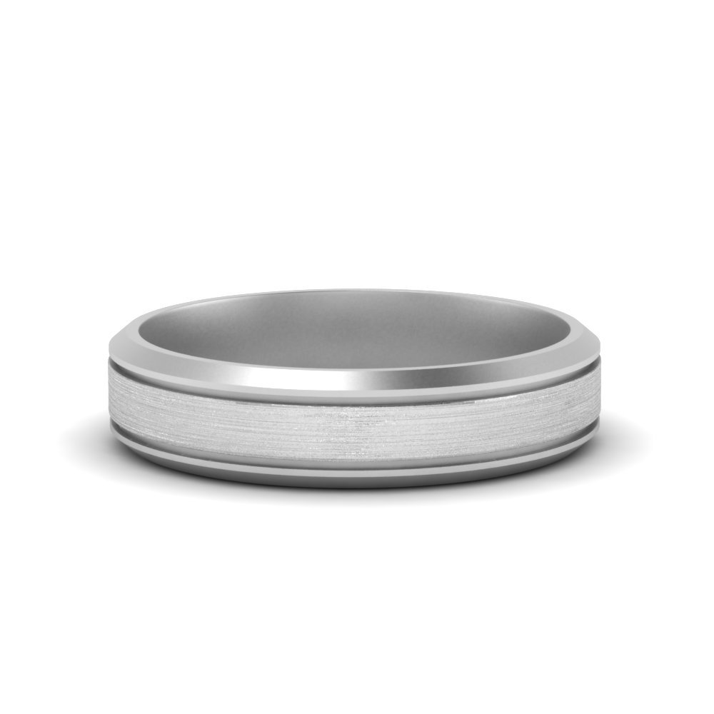 Bevealed Inlay Mens Wedding Band