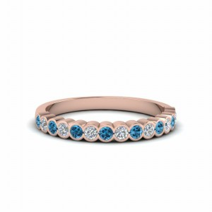 Topaz Rose Gold Anniversary Band