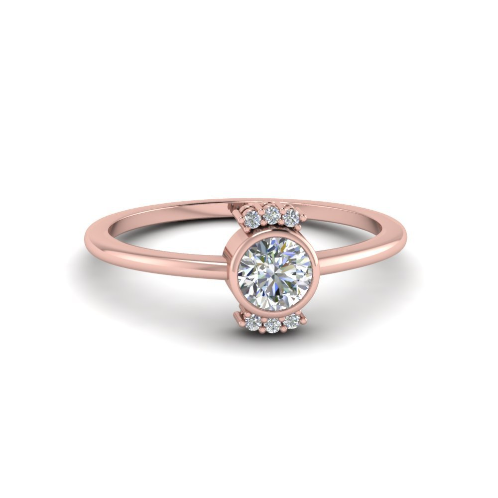 Bezel Set Promise Diamond Ring