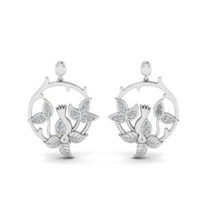 Bird Leaf Stud Earring For Womens