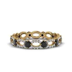 Black Diamond 1.50 Ct. Eternity Ring