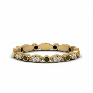 18k Gold Black Diamond Eternity Band