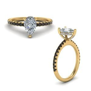 Pear Shaped Diamond Petite Ring