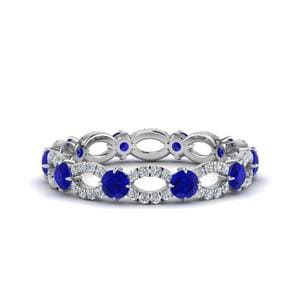 Natural Sapphire Eternity Ring 1.50 Ct.