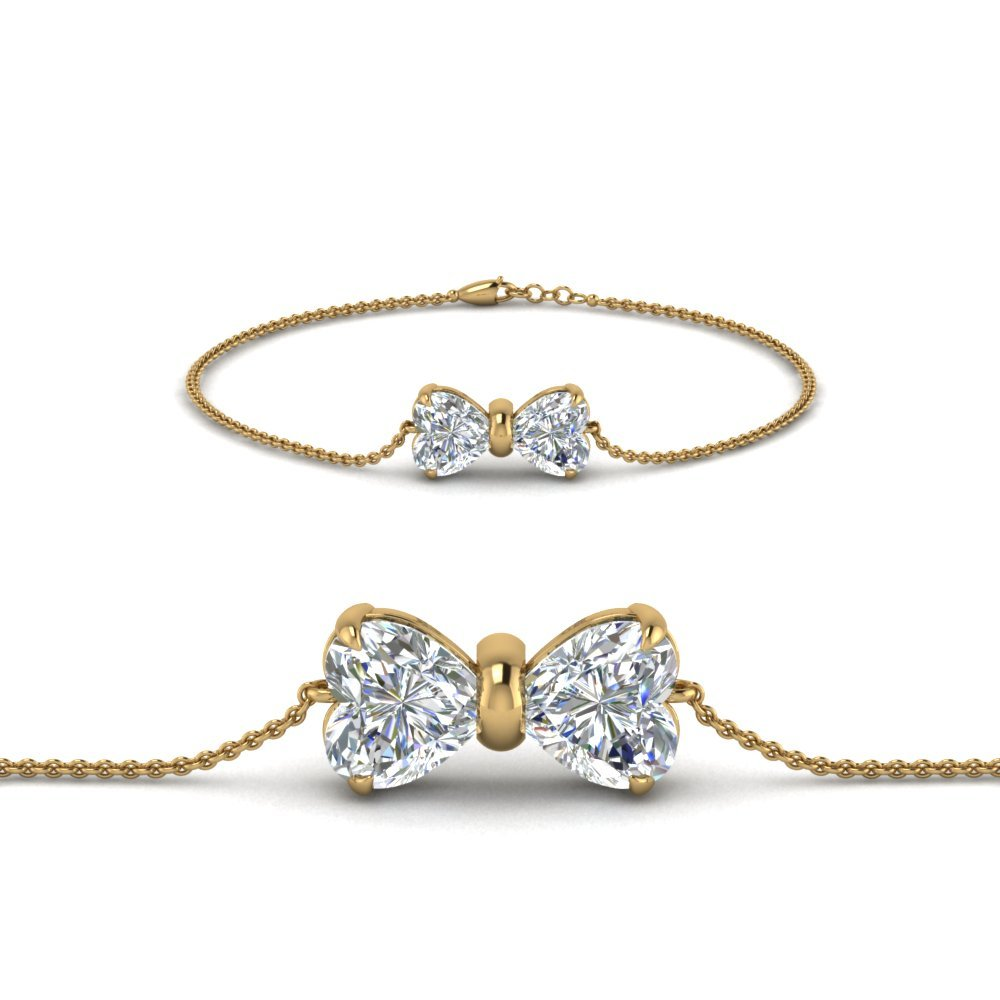 18K Yellow Gold Bow Design Bracelet