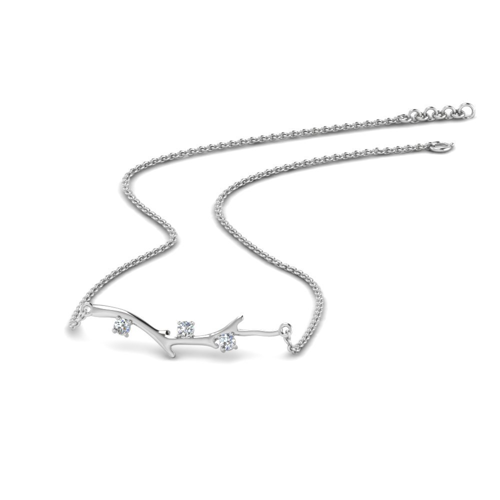 Branch Design Diamond Necklace