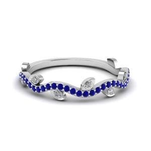 Nature Inspired Sapphire Band