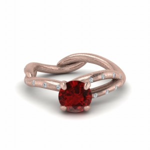 Branch Colored Engagement Ring