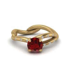 Branch Ruby Engagement Ring