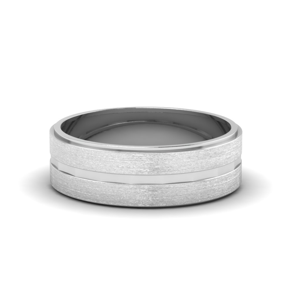 Brushed Finished Men's Promise Band
