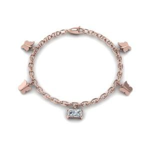 Butterfly Charm Diamond Bracelet
