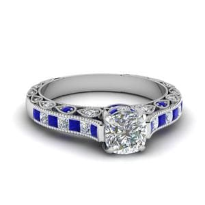 Cathedral Vintage Sapphire Ring