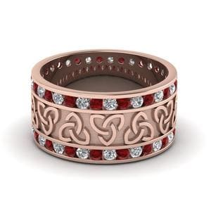 Ruby Celtic Knot Wedding Band