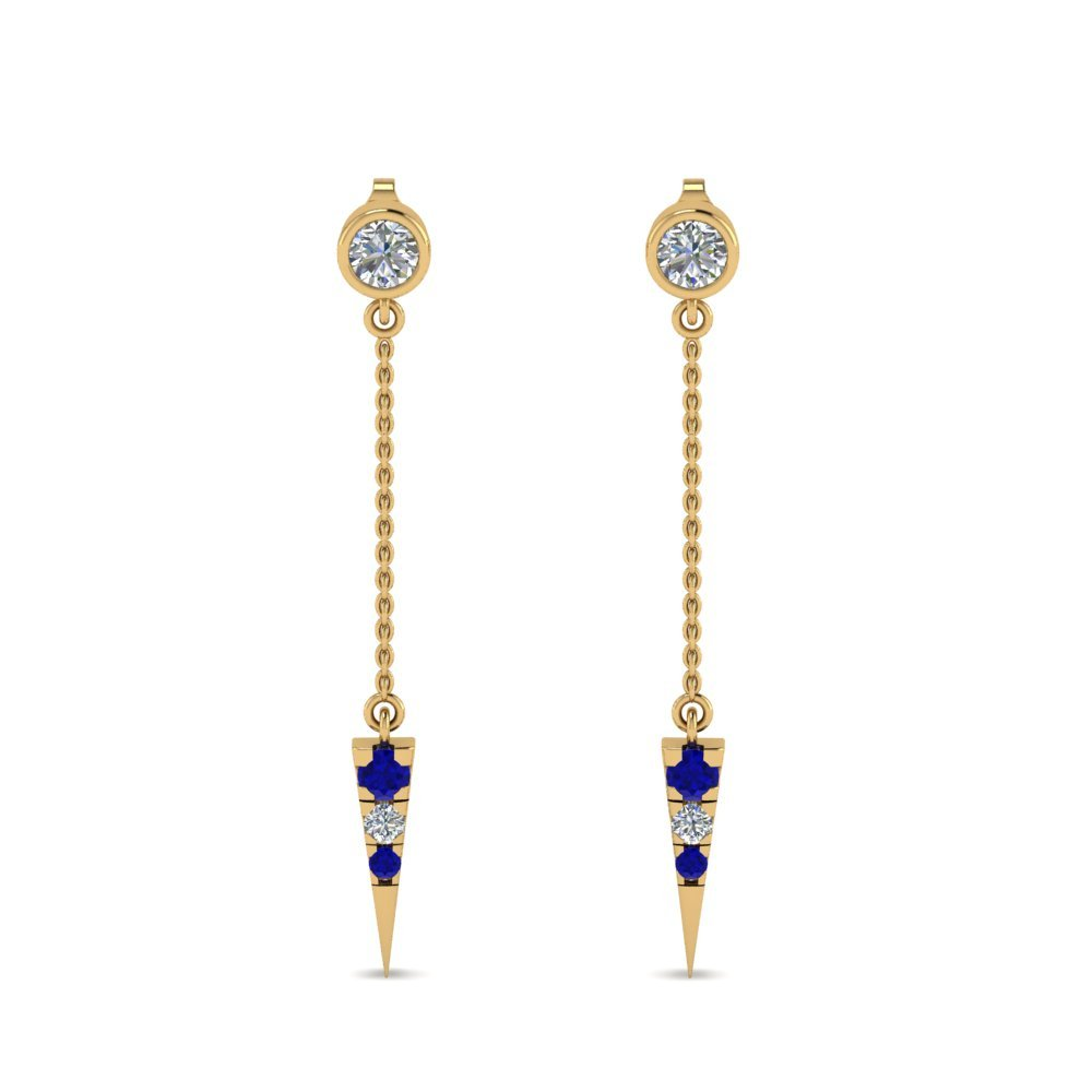 Sapphire Drop Dangle Earrings