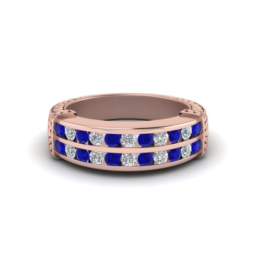 Sapphire With Wedding Band