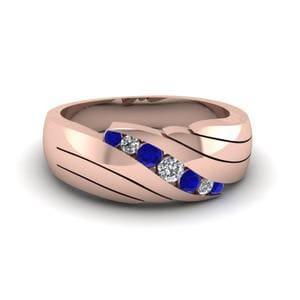 Channel Set Sapphire Wedding Band