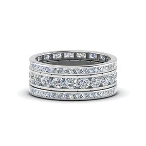Channel Set Diamond Stack Band