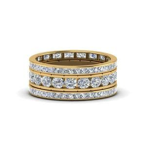 Channel Set Eternity Stack Band