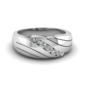 Channel Set Diamond Mens Wedding Ring