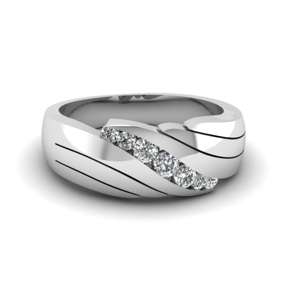 Classic Channel Set Diamond Wedding Band