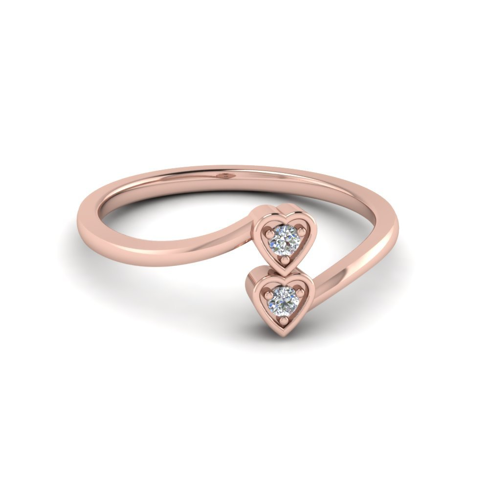 Cheap 2 Stone Promise Ring