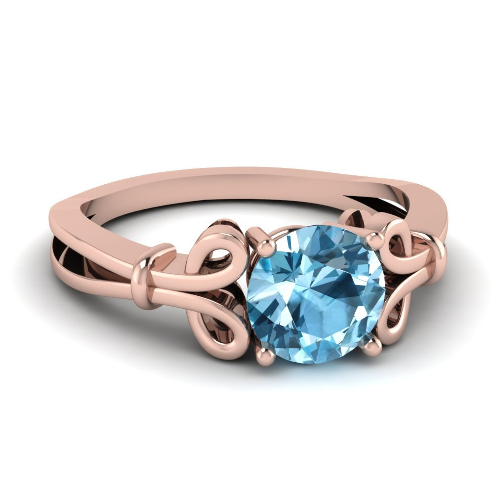 Cheap Blue Topaz Solitaire Ring
