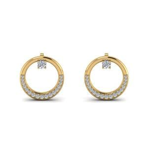 Diamond Circle Stud Earring